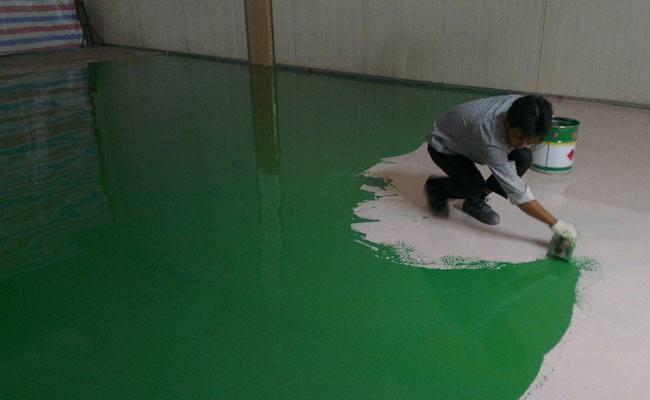 Self-leveling paint